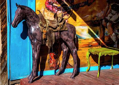 Wooden Horse Santa Fe Art Print