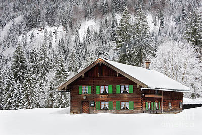 Photograph - Wooden House In Bavaria In The Snow by IPics Photography