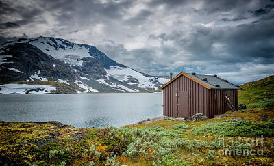 Photograph - wooden houses at the famous County Road 55 norway by Compuinfoto