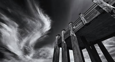 Photograph - Wooden Jetty And The London Summer Sky by John Williams