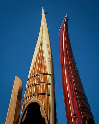 Photograph - Wooden Kayaks by Lauren Brice