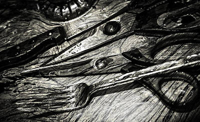 Photograph - Wooden Kitchen Utensils And Chrome by John Williams