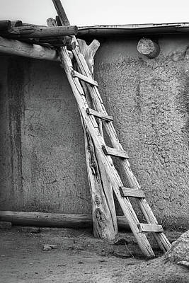 Photograph - Wooden Ladder At Taos Pueblo by Nadalyn Larsen
