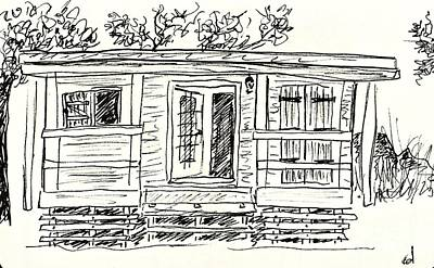 Drawing - Wooden Lodge by Chani Demuijlder