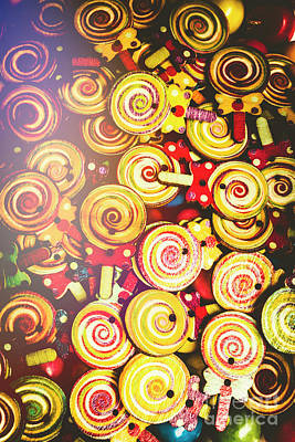 Confection Photograph - Wooden Lollipops by Jorgo Photography - Wall Art Gallery