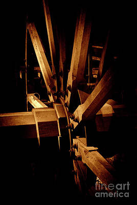 Photograph - Wooden Mill Wheel by Paul W Faust - Impressions of Light