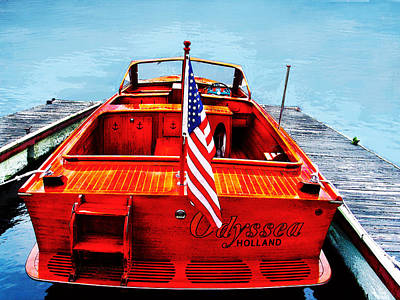 Photograph - Wooden Motorboat by Susan Vineyard