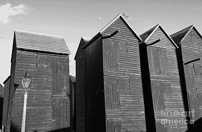 Photograph - Wooden Net Huts In Hastings by David Fowler