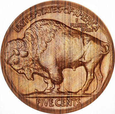 Photograph - Wooden Nickel  by Ed Meredith
