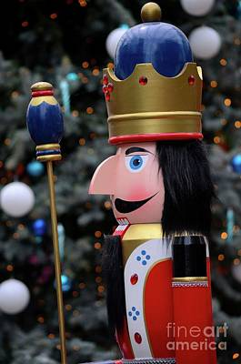 Photograph - Wooden Nutcracker Prince Statue In Colorful Regalia From Christmas Fairy Tale Story by Imran Ahmed