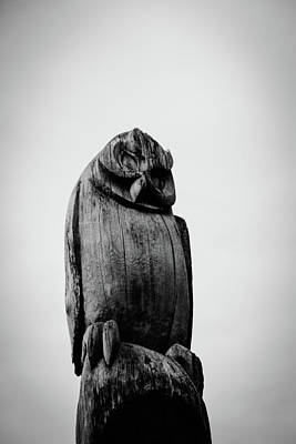 Photograph - Wooden Owl by Perggals - Stacey Turner
