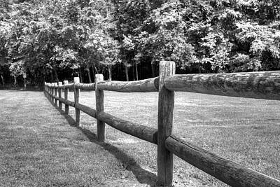 Photograph - Wooden Post Fence by Ester Rogers