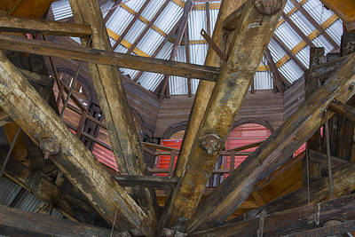 Vermeer Rights Managed Images - Wooden rafters Royalty-Free Image by Karen Foley