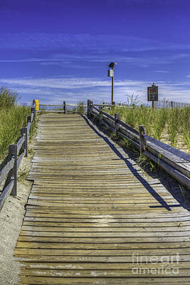 Photograph - Wooden Access Ramp To The Boardwalk by David Zanzinger