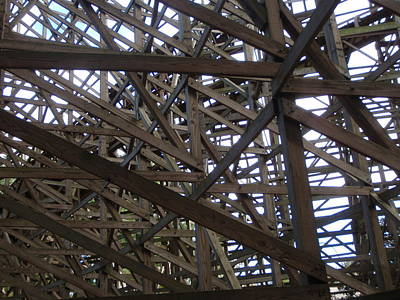 Rollercoaster Photograph - Wooden Rollercoaster by Anthony Haight