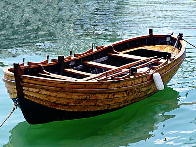 Photograph - Wooden Rowboat by Anthony Dezenzio