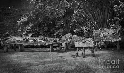 Photograph - Wooden Seats Waiting For You by Doc Braham