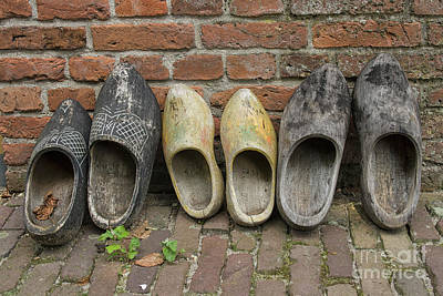 Photograph - Wooden Shoes In A Row by Patricia Hofmeester