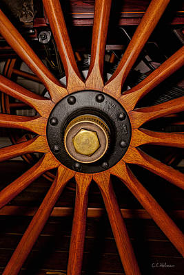 Photograph - Wooden Spokes by Christopher Holmes