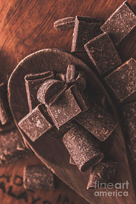 Photograph - Wooden Spoon With Pieces Of Cooking Chocolate by Jorgo Photography - Wall Art Gallery