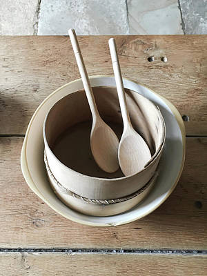 Ladle Photograph - Wooden Spoons by Tom Gowanlock