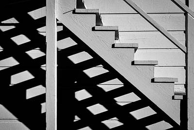 Wooden Stairs Art Print