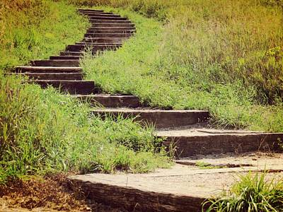 Photograph - Wooden Steps by Kyle West