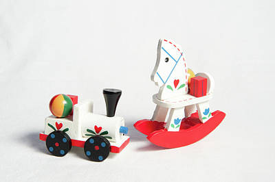 Photograph - wooden Toys by Helen Northcott