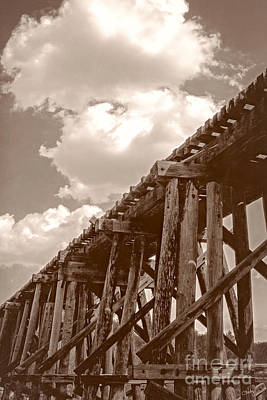 Photograph - Wooden Train Trestle   by Imagery by Charly