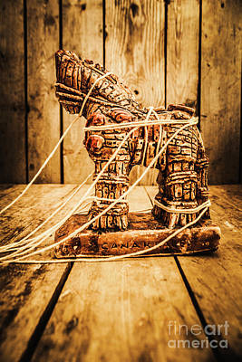 Horse Artwork Photograph - Wooden Trojan Horse by Jorgo Photography - Wall Art Gallery