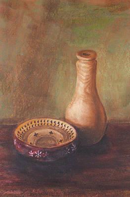 Wooden Vase Art Print by Srilata Ranganathan