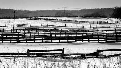 Photograph - Repeating Fences In Snow Land by John Williams