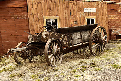 Wooden Wagon Art Print