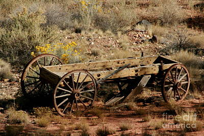 Wooden Wagon Print by Robert  Torkomian