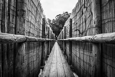 Photograph - Wooden Walkway. by Gary Gillette