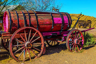 Wagon Photograph - Wooden Water Wagon by Garry Gay