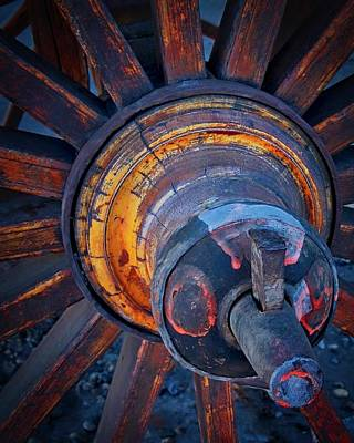 Photograph - Wooden Wheel Hub by Flying Z Photography by Zayne Diamond