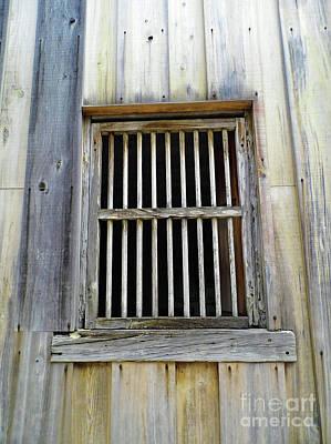 Photograph - Wooden Window by D Hackett