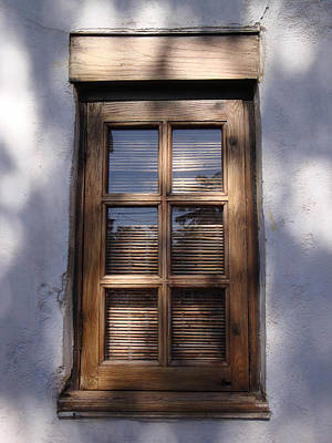 Wooden Window In The Shadows Art Print by Kim Chernecky