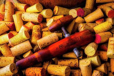 Photograph - Wooden Wine Barrel Spigot by Garry Gay