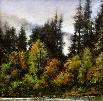 Mountain Scenery Wall Art - Painting - Woodland Bottoms In April by Jim Gola