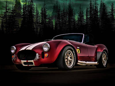 Sportscar Digital Art - Woodland Cobra by Douglas Pittman