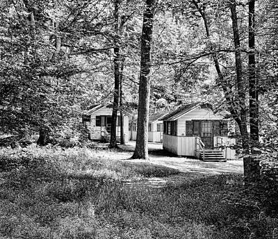 Photograph - Woodland Cottages - Mammoth Cave National Park - Kentucky - 1a Bw by Greg Jackson