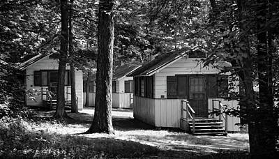 Photograph - Woodland Cottages - Mammoth Cave National Park - Kentucky - B/w by Greg Jackson