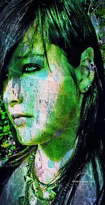 Digital Art - Woodland Elf by Absinthe Art By Michelle LeAnn Scott