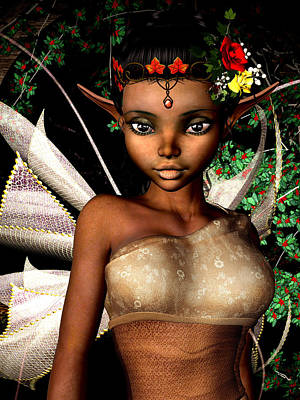 Fay Digital Art - Woodland Fairy  by Alexander Butler