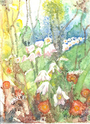 Art Print featuring the painting Woodland Garden by Renate Nadi Wesley
