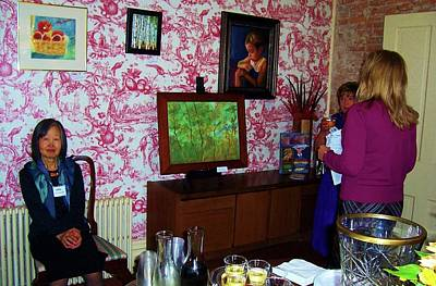 Nashville Tennessee Painting - Woodland Greens Painting @ Monthaven Mansion - Exhibit by Peggy Leyva Conley