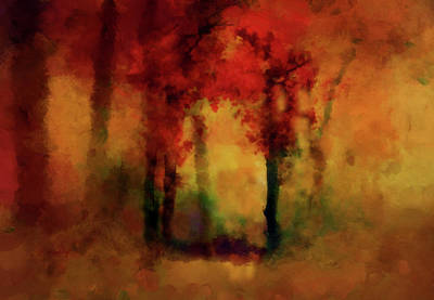 Painting -  Woodland In The Fall by Valerie Anne Kelly