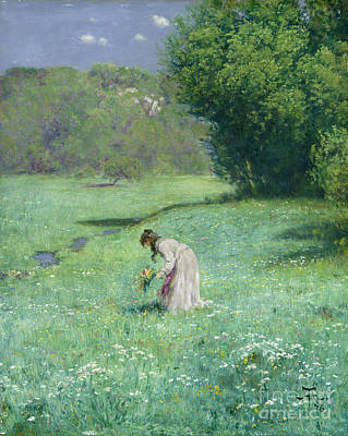 Clearing Painting - Woodland Meadow by Hans Thoma